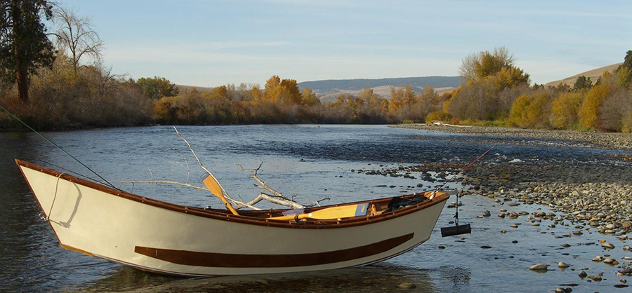 Drift Boat on the Yakima River